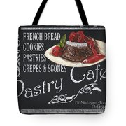Pastry Cafe Tote Bag by Debbie DeWitt