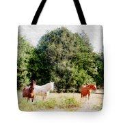 Pasture For Three Tote Bag