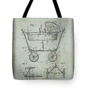 Patent Art Mahr Baby Carriage 1922 Green Tote Bag
