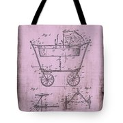 Patent Art Mahr Baby Carriage 1922 Pink Tote Bag