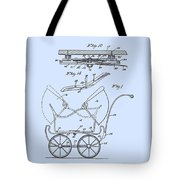 Patent Art Robinson Baby Carriage Blue Tote Bag