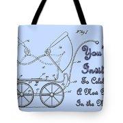 Patent Art Robinson Baby Carriage Invite-blue Tote Bag