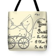 Patent Art Robinson Baby Carriage Invite Yellow Tote Bag