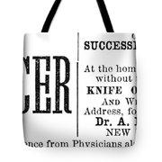 Patent Medicine, 1876 Tote Bag