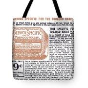 Patent Medicine Ad, 1890s Tote Bag