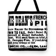 Patent Medicine, C1880 Tote Bag