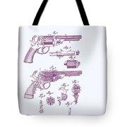 Patented Revolver In Purple Tote Bag