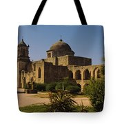 Path In Front Of A Church, Mission San Tote Bag