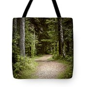 Path In Old Forest Tote Bag