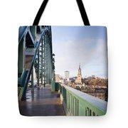 Path On Tyne Bridge Tote Bag