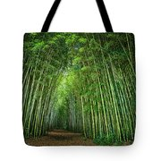 Path Through Bamboo Forest E139 Tote Bag