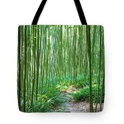Path Through Bamboo Forest Tote Bag