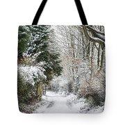 Path Through The Snow Tote Bag