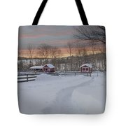 Path To The Barn Tote Bag