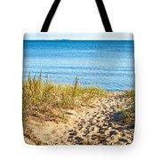 Path To The Lake Superior Beach Tote Bag