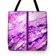 Path To The Unknown Diptych In Purple Tote Bag