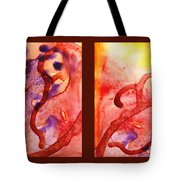 Path To The Unknown Warm Diptych  Tote Bag