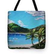Path To White Bay  Tote Bag