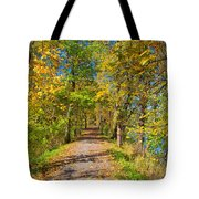 Pathway Along The Ohio And Erie Canal  Tote Bag