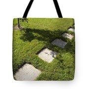 Pathway And Shadows Tote Bag