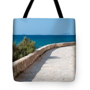 Pathway By The Sea Tote Bag