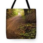 Pathway In The Woods Tote Bag