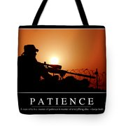 Patience Inspirational Quote Tote Bag by Stocktrek Images