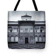 Patio De La Montaria Bw Tote Bag