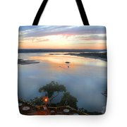 Patio With A View  Tote Bag