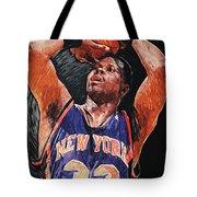 Patrick Ewing Tote Bag by Taylan Apukovska