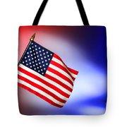 Patriotic American Flag Tote Bag