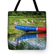 Patriotic Canoe #1 Tote Bag