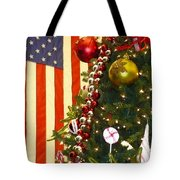 Patriotic Christmas Tote Bag