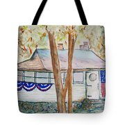 Patriotic Cottage Tote Bag