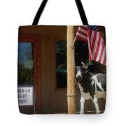 Patriotic Cow Cave Creek Arizona 2004 Tote Bag