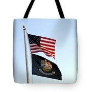 Patriotic Flags Tote Bag
