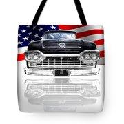Patriotic Ford F100 1960 Tote Bag