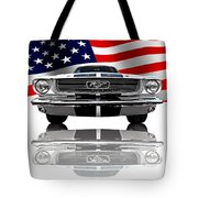 Patriotic Ford Mustang 1966 Tote Bag