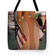 Patriotic Hotdog Tote Bag