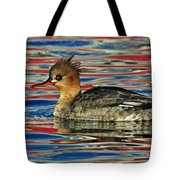 Patriotic Merganser Tote Bag