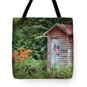 Patriotic Outhouse Tote Bag