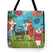 Patriotic Pups Tote Bag