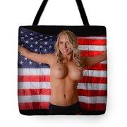Patriotic Sexy Woman  Tote Bag