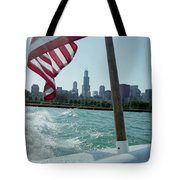 Patriotic Skyline Tote Bag