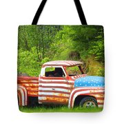 Patriotic Truck Tote Bag