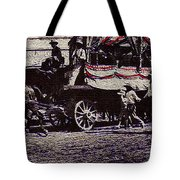 Patriotic Wagon Stone And Congress Tucson Arizona C.1900 Restored Color Texture Added 2008 Tote Bag