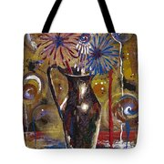 Patriotism Blooms Tote Bag