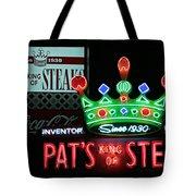Pat's King Of Steaks Tote Bag