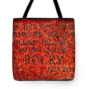 Pats Steaks - Rocky Plaque Tote Bag
