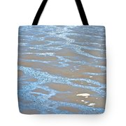 Pattern In Mud Flats At Low Tide In Kachemak Bay From Homer Spit-alaska Tote Bag